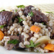 Dušené vepřové s kroupami a zeleninou recept
