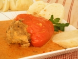 Plnene papriky ve smotanove omacce recept