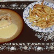 Vepřový steak s cibulovou omáčkou recept