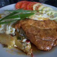 Smetanové brambory s přírodním vepřovým plátkem recept