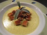 Pórková polévka s Hermelínem recept