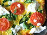 Špenátová omeleta s rajčátky recept