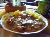 Houbové vepřové maso s paprikou recept