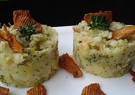 Šťouchané brambory s brokolicí recept