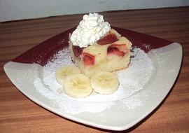 Jahodovo  banánový koláč recept