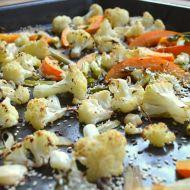 Pečený květák s dýní na česneku recept