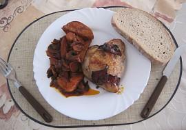 Kuře na zelenině s červeným vínem recept