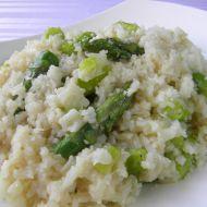 Rizoto se zeleným chřestem recept