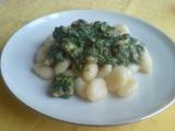 Jarní noky se špenátem a kuřecím masem recept