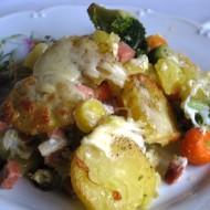 Zapečená barevná zelenina recept