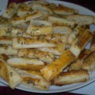 Tyčinky z listového těsta recept