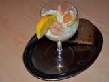 Salát s krabem a krevetami recept