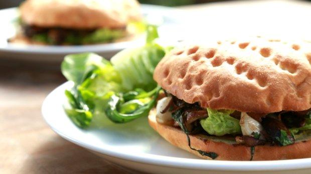 Houbový burger