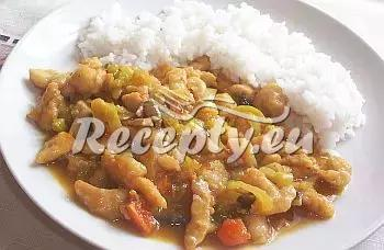 Kuřecí nudličky na kari recept  drůbeží maso