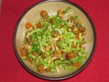 Žampinový salát  vegan
