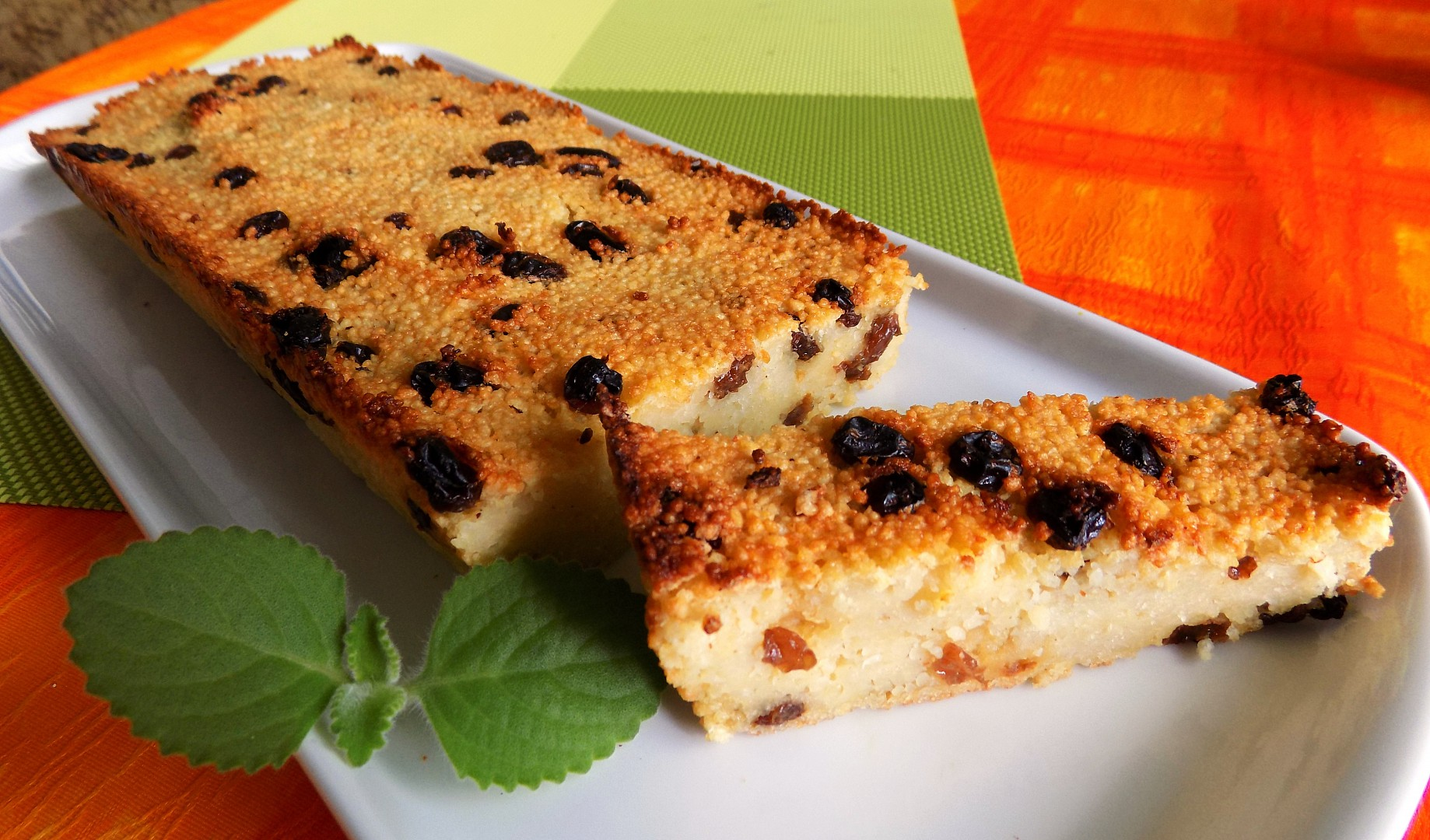 Kuskusový koláč s rozinkami recept