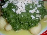 Gnocchi se sýrovým špenátem recept
