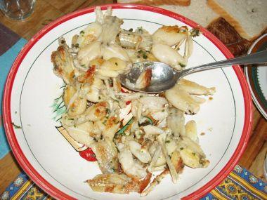 Žabí stehýnka na másle