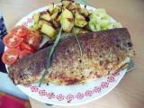 Pstruh barbecue, plněný petrželkou recept