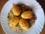 Zapečené brambory na zelí recept