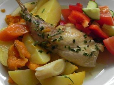 Jarní králík na zelenině