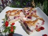 Sněhový koláč s lesními jahodami recept
