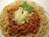 Celozrnné špagety se sojovou omáčkou recept