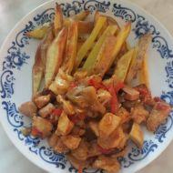 Kuřecí směs s houbami ala Veronika recept