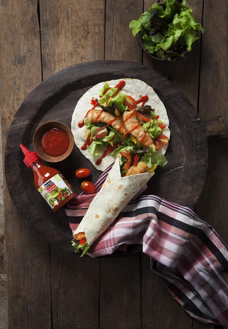 Tortily s krevetami a Sriracha omáčkou recept