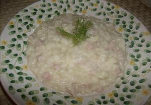 Kremové fenyklové rizoto nejen pro děti