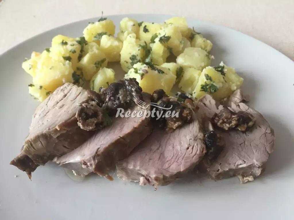 Pečená panenka na houbach recept  vepřové maso