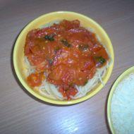 Špagety s rajčaty a bazalkou recept