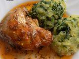 Country kuře s česnekem a špenátovými brambory recept ...