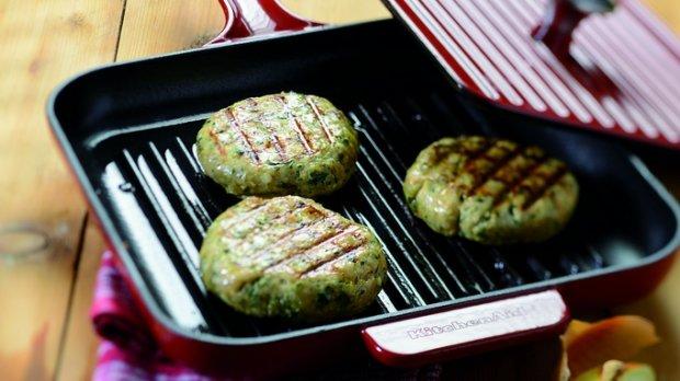 Krůtí karbanátky s koriandrem a restovanou zeleninou