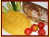Bylinkový pstruh s mrkvovým krémem  dělená strava (zvířátka ...