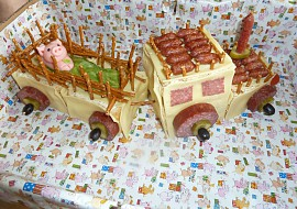 Traktor z toustového chleba recept