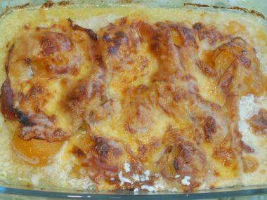 Recept Zapečená kuřecí prsa s mandlemi a sýrem