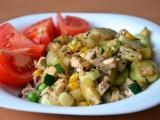 Zeleninová směs s tofu a těstovinami recept