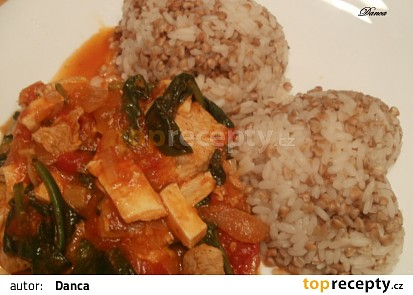 Krůtí trikolora s pohankovou rýží recept