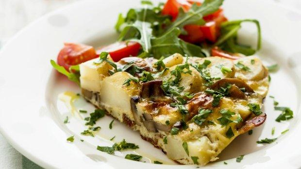 Rychlá bramborová omeleta k snídani