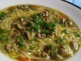 Slepičí polévka s játrovou rýží recept