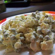 Vajíčkový salát s hráškem recept