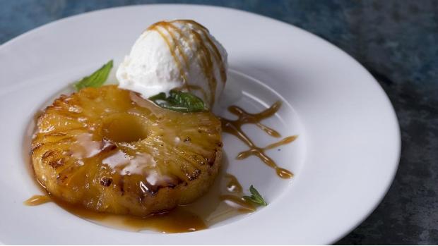 Ananas s vanilkovou omáčkou
