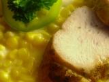 Pečená krůtí prsa s kukuřičnou omáčkou recept