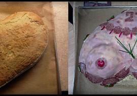 Chlebový dort  prsa recept