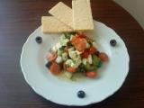 Zeleninový salát s mozzarelou recept