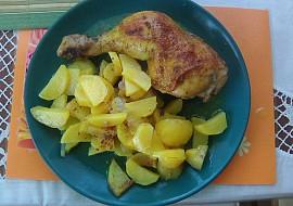 Pečená kuřecí stehna na kari s bramborem z jednoho pekáčku ...