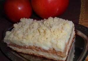 Jablečné řezy / koláč (nejen) s pudinkem