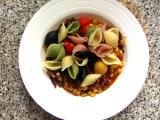 Jednoduché těstoviny s pestem a zeleninou recept
