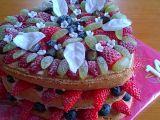 Bezlepkový nahý ovocný dort recept